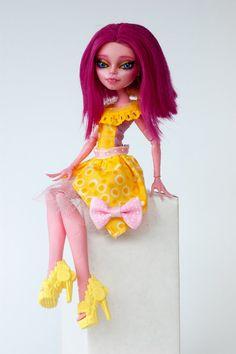 Lila OOAK Monster High Gigi Repaint by ColourToTheBone on Etsy