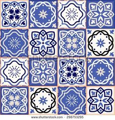 Gorgeous seamless patchwork pattern from colorful Moroccan tiles, ornaments. Can be used for wallpaper, pattern fills, web page background,surface textures. Geometric Patterns, Patchwork Patterns, Tile Patterns, Turkish Tiles, Moroccan Tiles, Motif Floral, Decoupage Paper, Tile Art, Delft