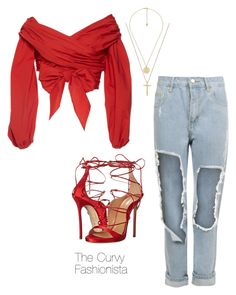 """""""Untitled #989"""" by thecurvyfashionistaa ❤ liked on Polyvore featuring Johanna Ortiz, Dsquared2, Gucci and WearAll"""