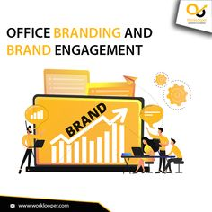 Enhance The Brand Engagement by Relishing Office Branding Services from WorkLooper. #OfficeBranding #OfficeBrandingServices #BrandingServices #OfficeBrandingCompany #OfficeBrandingAgency Office Branding, Logo Branding, Branding Services, How To Memorize Things, Engagement, Engagements