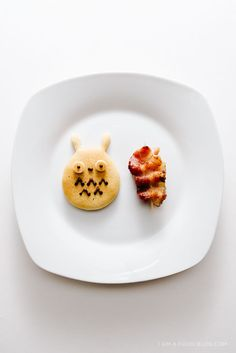 Buttermilk Totoro Pancakes and Bacon