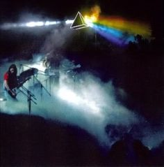 Pink Floyd's 'Dark Side of the Moon' tour, 1974.