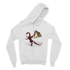 There Be Dragons Fine Jersey Zip Hoodie
