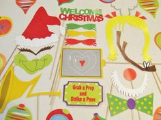 Grinch Christmas Photo Booth Prop