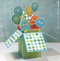 Lebílulas de colores.: Reto de Octubre en La pareja creativa: Tarjeta int...