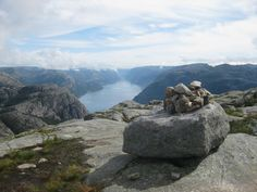 If you take the less crowded track to Preikestolen, you can stop at this spot, where you have Lysefjorden and Lysebotn to the east - and if you turn 180 degrees, you see Stavanger and the islands to the west. It's another great place to stop for a few photos! July 27th 2015