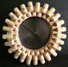 Wine Cork Clock