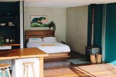 Al and Imo Custom Timber Furniture Scandi Bedside Table, Bedside Table Design, Bedside Tables, Timber Bed Frames, Timber Beds, Timber Furniture, Custom Furniture, Diy Storage Headboard, Minimalist Bed Frame