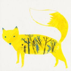 """Yellow Fox"" by Armellini Chiara."
