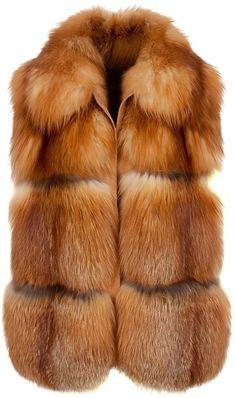 6f023fc4bf04 Fox Fur Gilet - Lyst Brown Fur Vest