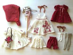 Blythe doll set of clothes Sewing Doll Clothes, Baby Doll Clothes, Sewing Dolls, Barbie Clothes, Doll Dress Patterns, Clothing Patterns, Little Presents, Doll Wardrobe, Doll Costume
