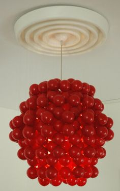 Verner Panton F-type chandelier Wonderlamp balls by ICONICLIGHTS