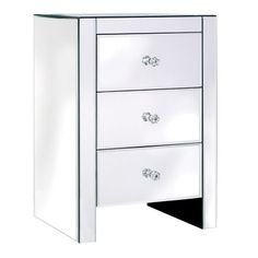 Venetian Mirrored Bedside Table 66 x 46 x 36 cm