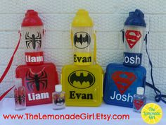 PERSONALIZED Lunch Set Summer Camp Beach Sippy Cup Sandwich Container SUPERHERO