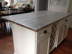 Greyish Wood Countertop (from The Driftwood Collection)  Grayskiesisland_web