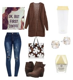 """Contest: coffee"" by dtlpinn on Polyvore featuring Blowfish, Fendi, Kendra Scott, Kate Spade and ban.do"