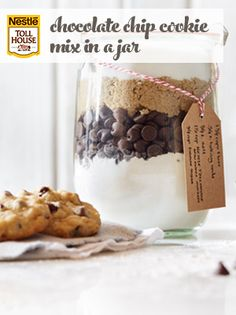 Chocolate Chip Cookie Mix in a Jar