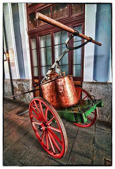 Carro Apagafuegos en el Museo del Ferrocarril de Madrid (HDR)