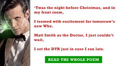 Doctor Who Christmas poems