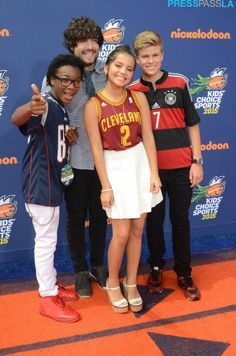 "The cast of Nickelodeon's ""100 Things to do Before High School"" take on the orange carpet #PressPassLA #PPLA #LA #KidsSportsAwards #RedCarpet #Nickelodeon #Athletes"