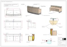 Cantilever Pergola Plans Reception Desk Woodworking Yellow Wood Picnic Table Project Veneer Vacuum Press W Yellow Wood Plans House Plan Reception Counter Design, Curved Reception Desk, Office Reception, Reception Furniture, Industrial Office Design, Interior Design Presentation, Construction Drawings, Pergola Plans, Pergola Kits