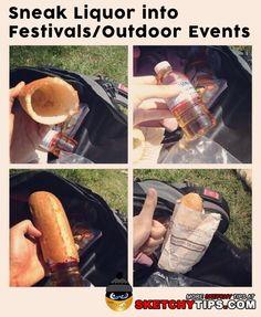 Sneak Liquor into Festivals/Outdoor Events - #Alcohol, #LifeHacks, #Liquor