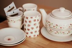 Rose tea set.