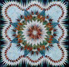 Dragon Star, Quiltworx.com, Made by CI Sue Wilson.