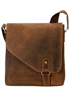 Black Friday Visconti 16071 Oiled Distressed Leather Messenger Shoulder Bag Hunter (Tan) from Visconti Leather Purses, Leather Handbags, Leather Wallet, Leather Bags, Distressed Leather, Leather Men, Soft Leather, Leather Projects, Beautiful Bags