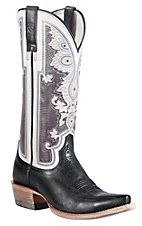 Ariat® Women's Midnight Blue Alameda w/ Regal Print Top Snip Toe Western Boots