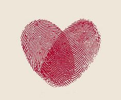 This would be a sweet tattoo, but it would take a long time because of the detail. Individual's thumbprints to make a heart. I could handle it!