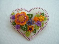 Felt Heart Pin by Beedeebabee on Etsy, $21.00
