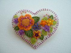 Felt Heart Pin by Beedeebabee on Etsy, $21.00