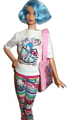 Hello Kitty Barbie outfit