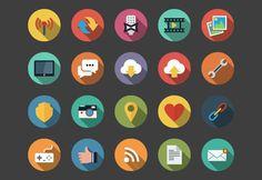 Web Flat Icons bundle by Alexgorilla on deviantART
