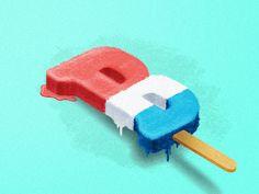 B is for...Bomb Pop by Scott Biersack #Design Popular #Dribbble #shots