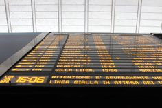 The digital clock at #TerminiStation helps travelers keep on schedule