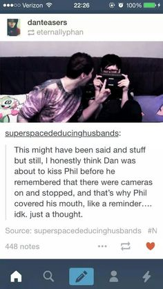 I don't know if Phan is my otp or brotp. But this is still SO FLIPPING ADORABLE!!!!