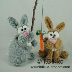New IlDikko Amigurumi Pattern: Bunny and Clyde