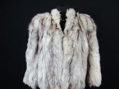 HAMMERMAN WOMENS AUTHENTIC REAL FUR COAT SIZE 12/14 UK CREAM GOOD CONDITION H013