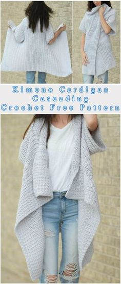 Free Crochet Pattern Another cozy stuff – this time is the cascading kimono – perfect clothes for women. Do you like this color? It's Lion