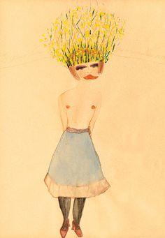 Carol Rama, Passionate, 1939, watercolor on paper #drawing #art