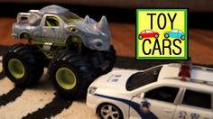 TOY CARS Police Chase CRASH Kids Playing HOT WHEELS FUN!
