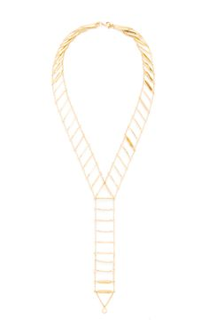 Gold Drop Ladder Choker by KARMA EL KHALIL Now Available on Moda Operandi