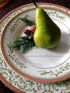 Christmas dishes, beautifully styled by Home Is Where the Boat Is.