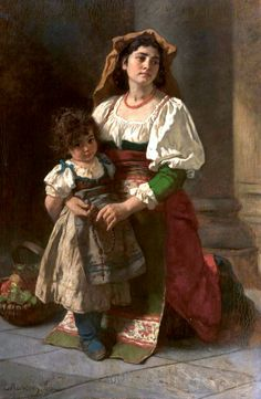 "Carl Ludwig Friedrich Becker, ""Mother and Child"""