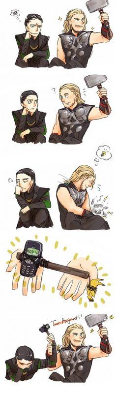 "Thor and Loki with Mjolnir and Nokia. Loki is like ""Thor, really? Marvel Dc Comics, Marvel Jokes, Ms Marvel, Humour Avengers, Funny Marvel Memes, Funny Memes, Funny Comics, Loki Funny, Funny Avengers"