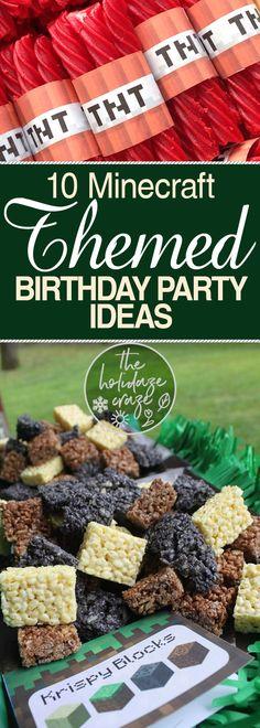 10 Minecraft Themed Birthday Party Ideas - Minecraft, Minecraft Party Ideas, Birthday Party, Birthday Party Ideas, Minecraft Birthday Party, Birthday Parties for Kids, Kids Birthday #Minecraft #BirthdayParty
