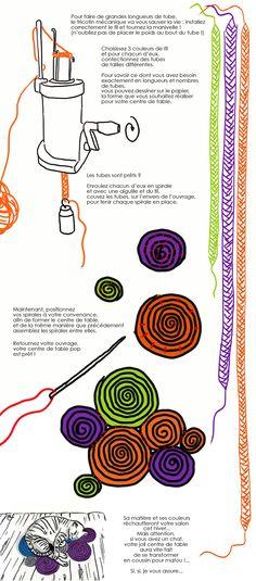 Confectionnez un centre de table pop en tricotin. http://www.deco.fr/loisirs-creatifs/actualite-735415-creer-centre-table-pop-tricotin.html