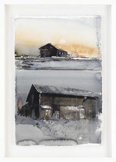 View Ladugårdar by Lars Lerin on artnet. Browse upcoming and past auction lots by Lars Lerin. Watercolor Painting Techniques, Watercolor Projects, Watercolor Artwork, Watercolor Sketch, Watercolor Artists, Watercolor Architecture, Watercolor Landscape, Abstract Landscape, Building Painting